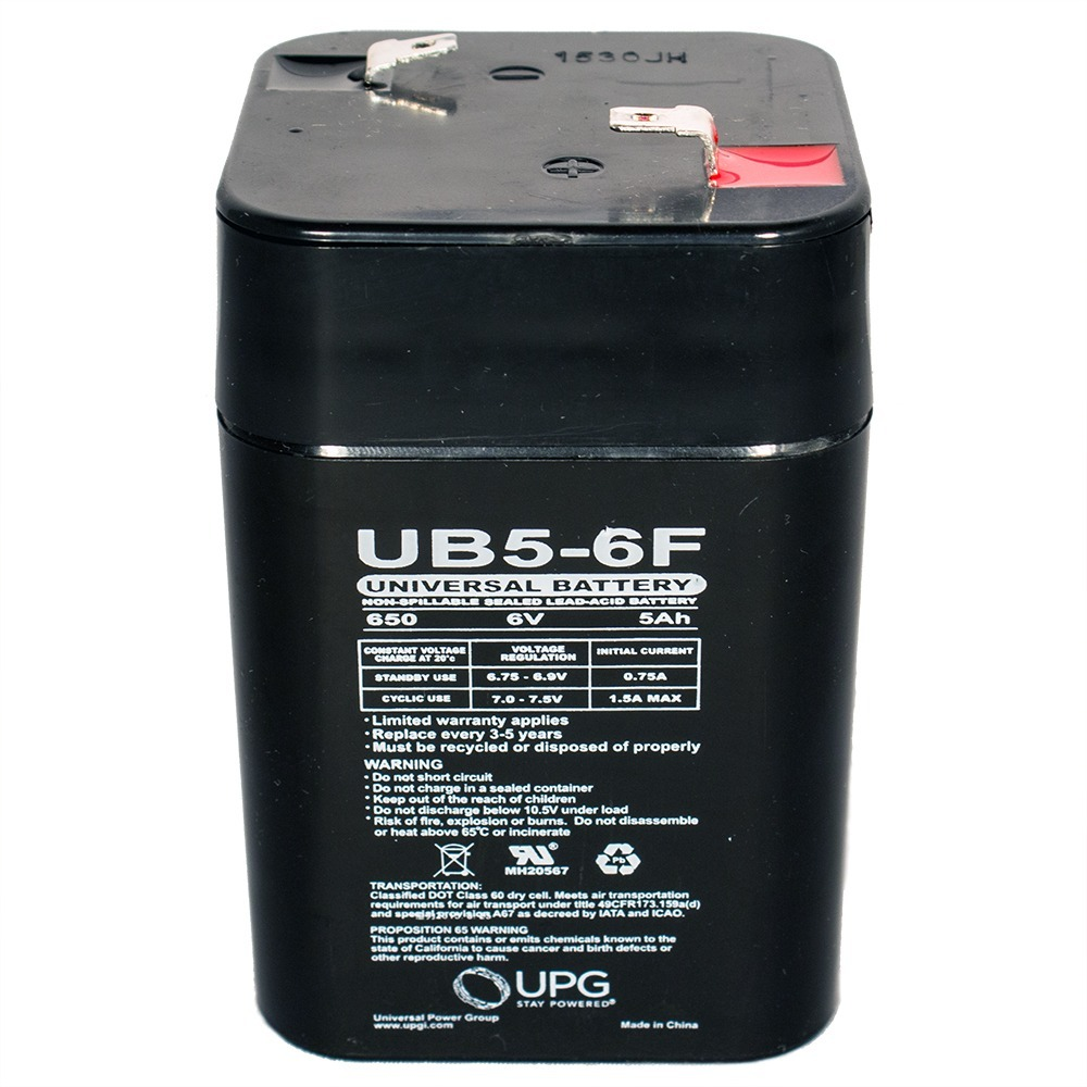 POWER-SONIC PS650LF 6V 5AMP REPLACEMENT BATTERY F1 TERMINAL