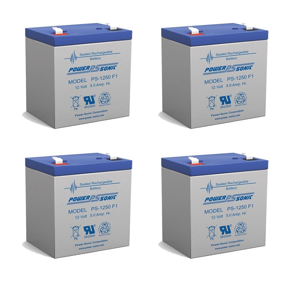 12V 5AH SLA Battery for Razor e100 /e125 /e150 - Not compatible with Power Core E100 - 4 Pack