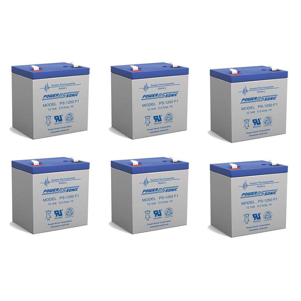12V 5AH SLA Battery for Razor e100 /e125 /e150 - Not compatible with Power Core E100 - 6 Pack