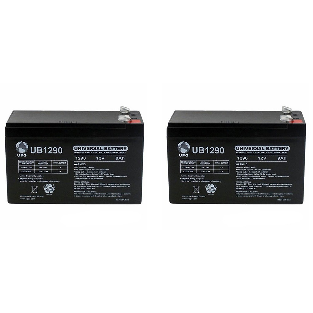 12V 9AH SLA Battery replaces hr-1234w-f2 - 2 Pack