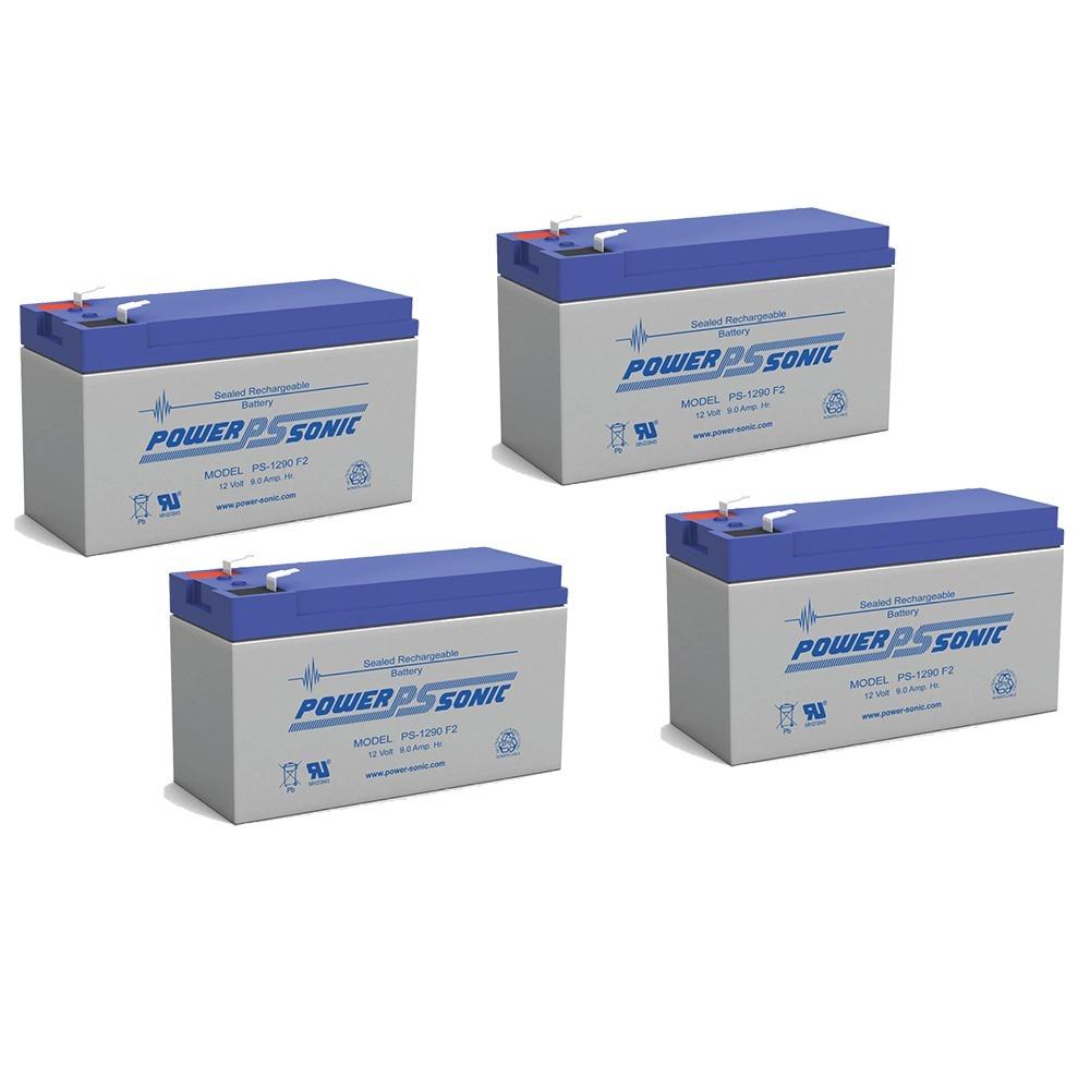 12V 9AH SLA Battery replaces hr-1234w-f2 - 4 Pack