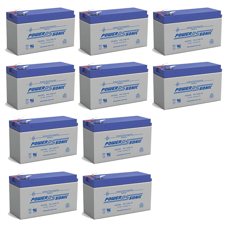 12V 9AH SLA Battery replaces hr-1234w-f2 - 10 Pack