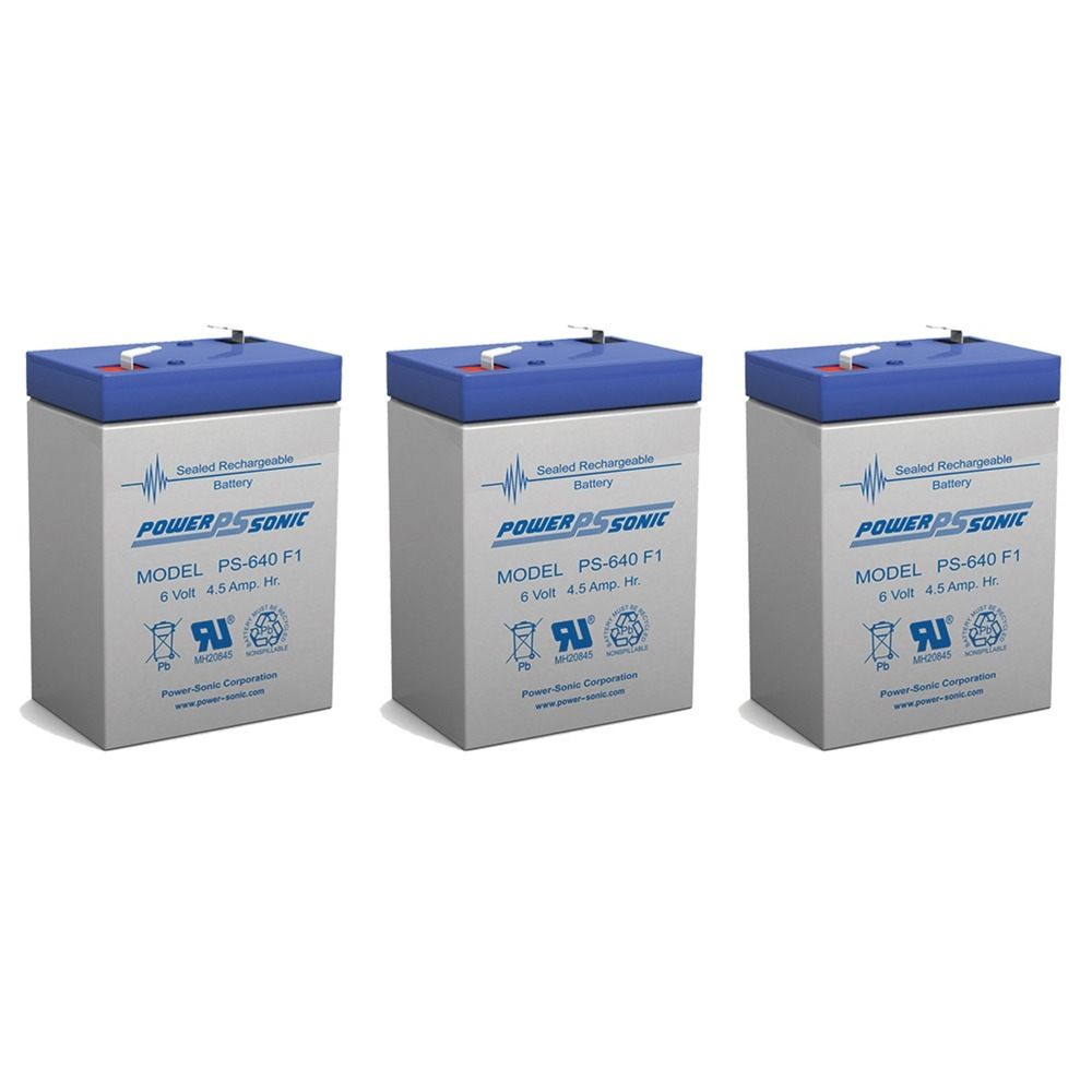 BATTERY REPLACEMENT SEALAKE FM640A 6V 4.5 EACH - 3 Pack