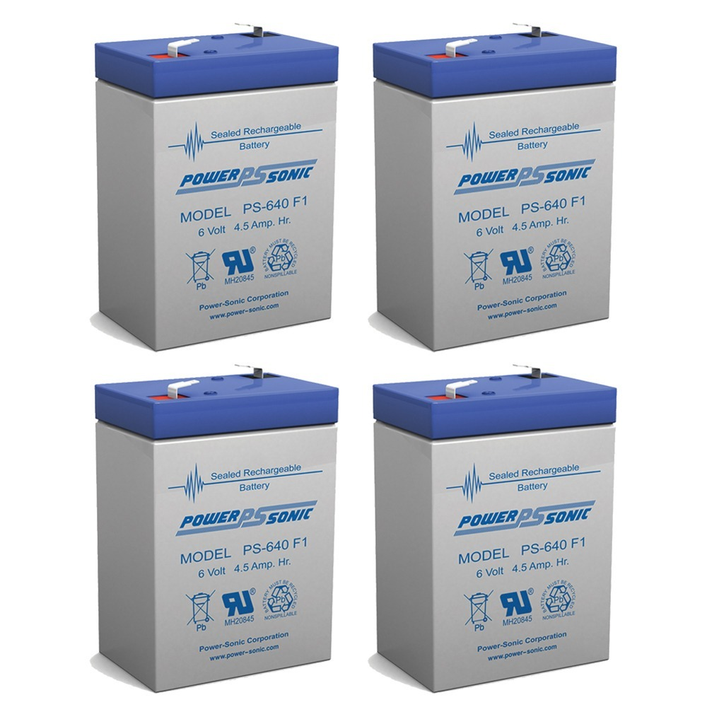BATTERY REPLACEMENT SEALAKE FM640A 6V 4.5 EACH - 4 Pack