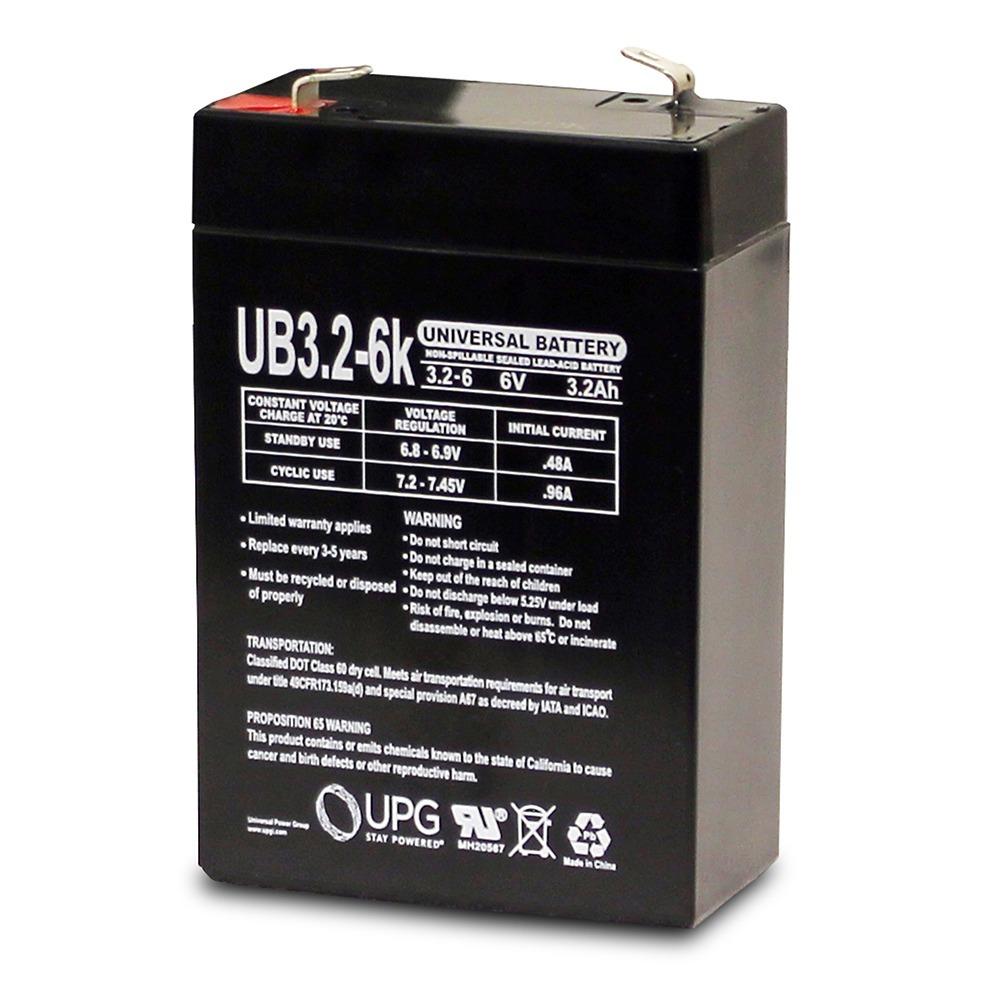 6V 3.2Ah FOR  Honeywell Casil CA631 SLA Battery for 7845GSM-K14139