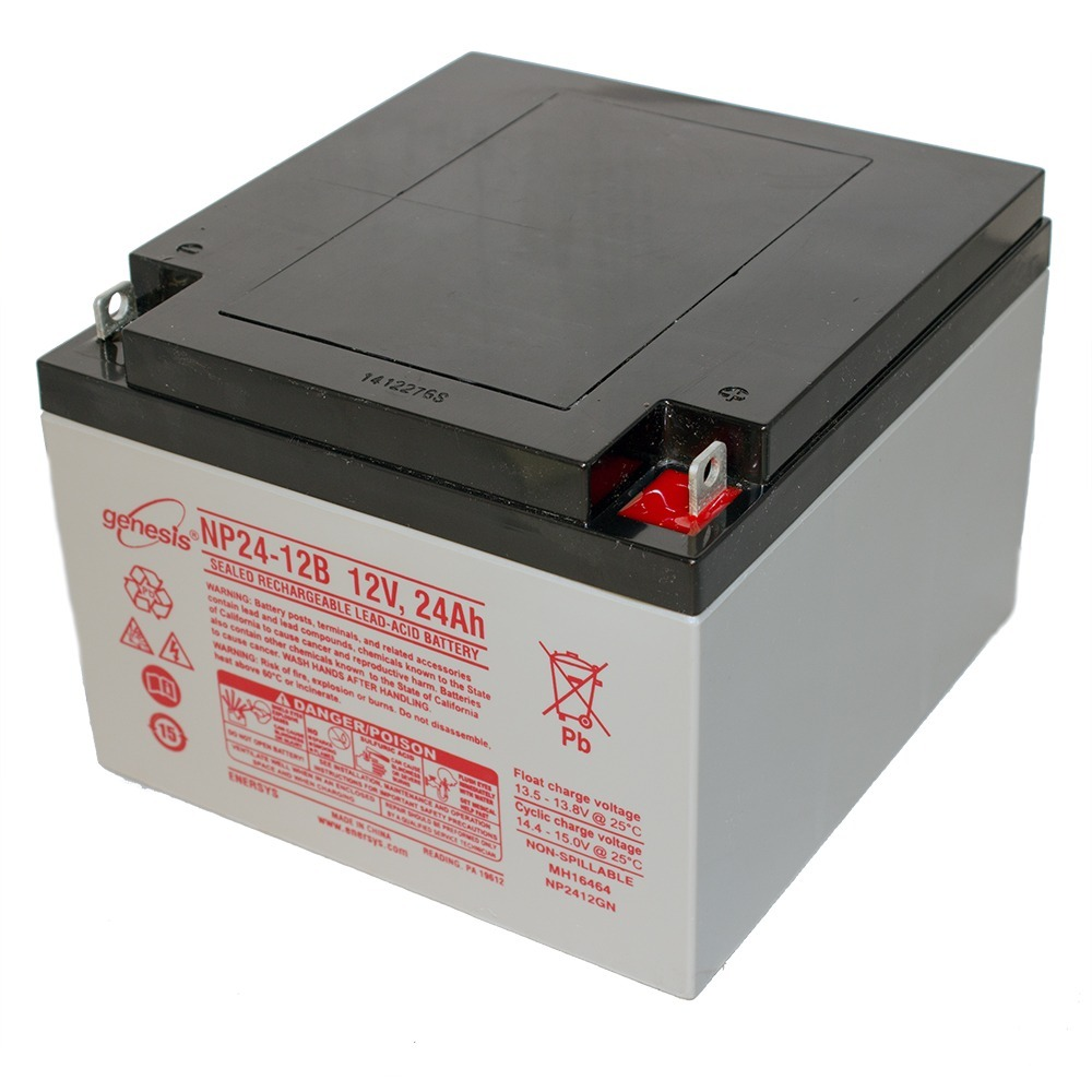 genesis 12v 24ah battery replacement for yuasa np24 12b. Black Bedroom Furniture Sets. Home Design Ideas