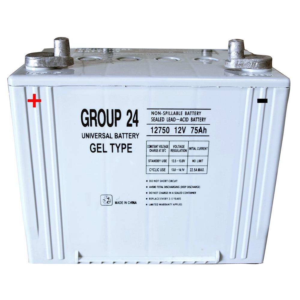 Group 24 Gel Type  Battery 12V 75 Ah
