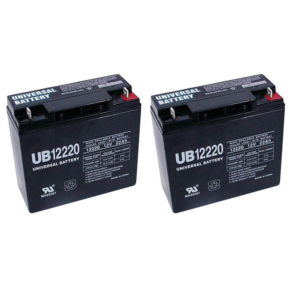 12V 22Ah SLA Battery Replaces CB19-12, ES1217, UB12200, LC-RD1217P - 2 Pack