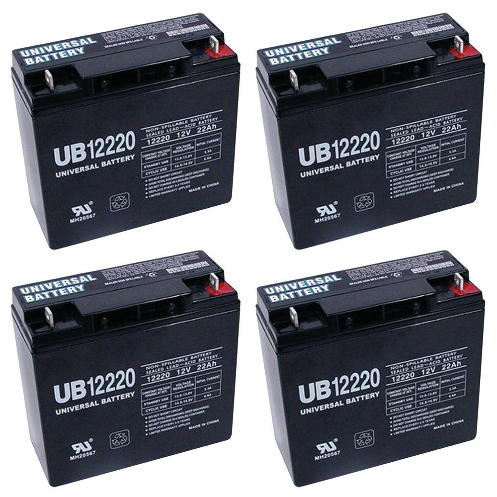 12V 22Ah SLA Battery Replaces CB19-12, ES1217, UB12200, LC-RD1217P - 4 Pack