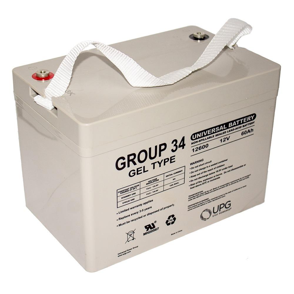 GROUP 34 Gel Type Battery 12V 60AH