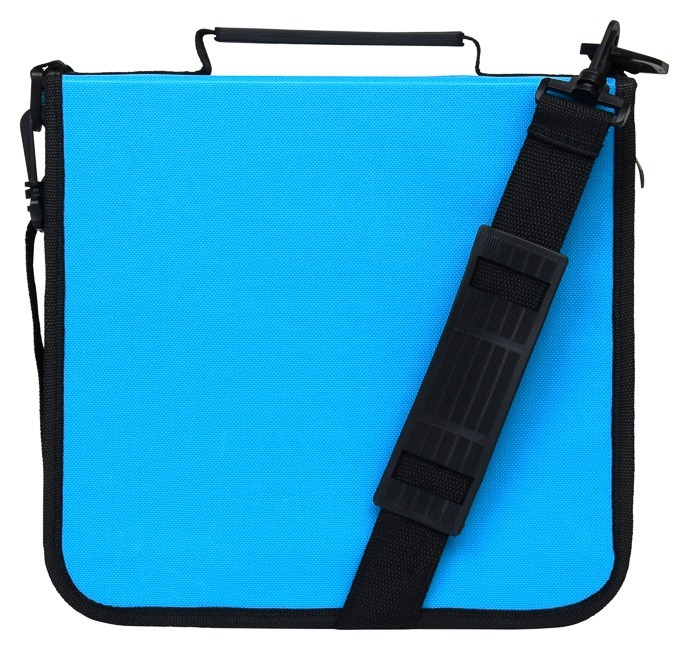 CD Case for Car, 288 Capacity, Hard Case and Lightweight, Blue
