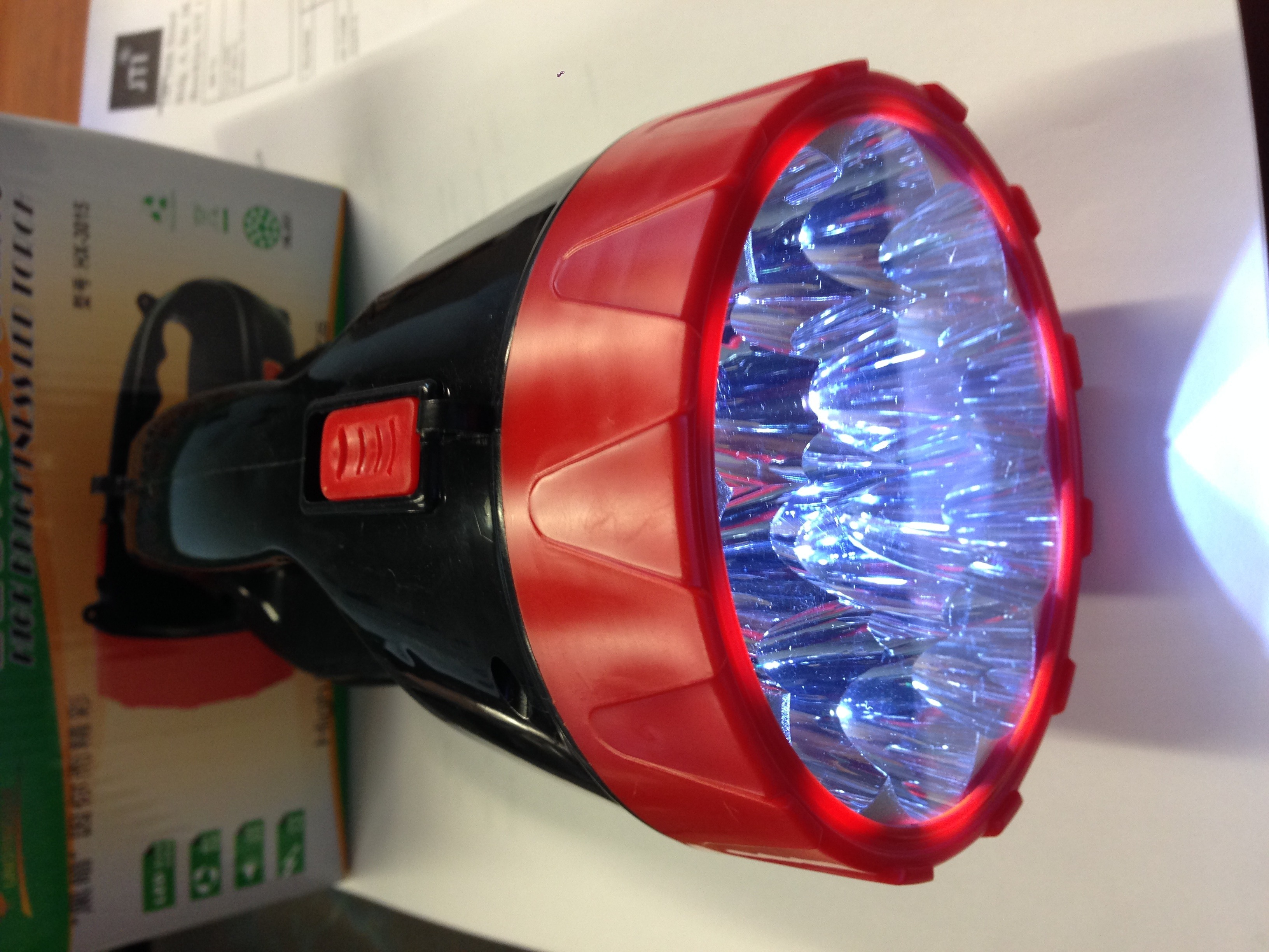 plastic led powerful rechargeable portable emergency light