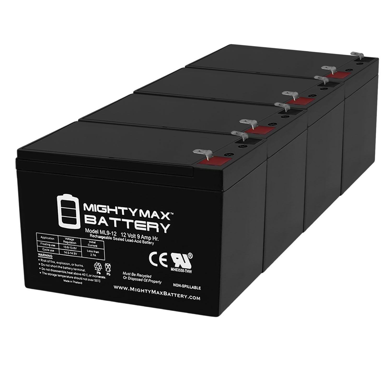 12V 9AH Compatible Battery for APC BP420 BP4201PNP BP420C - 4 Pack
