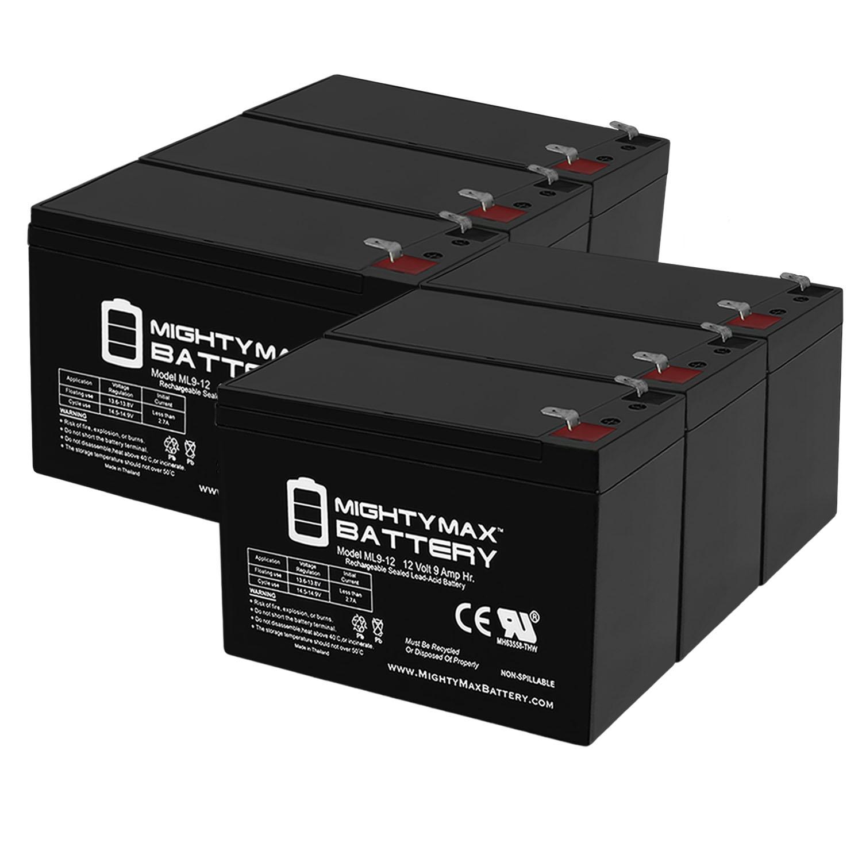 12V 9AH Compatible Battery for APC BP420 BP4201PNP BP420C - 6 Pack