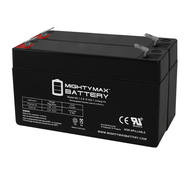 6V 1.3Ah Sonnenschein A506/1.2S Emergency Light Battery - 2 Pack