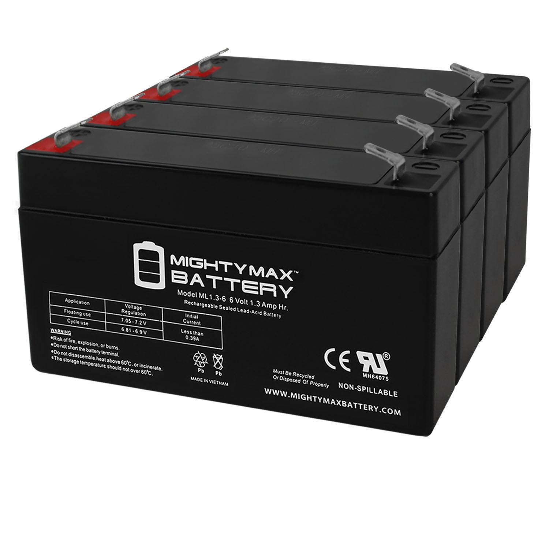 6V 1.3Ah Sonnenschein A506/1.2S Emergency Light Battery - 4 Pack