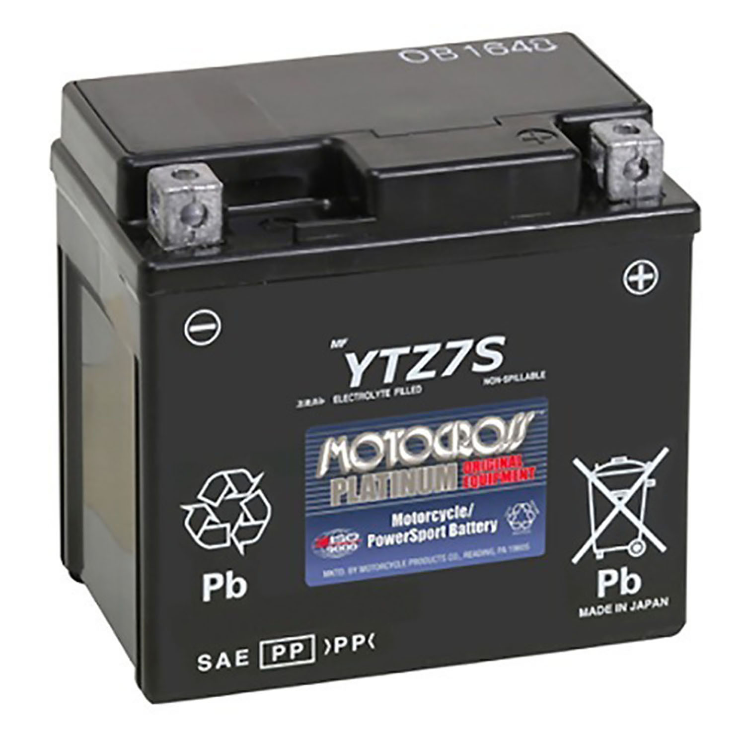 YTZ7S M727ZS 12V 6AH Sealed Lead Acid Factory Activated Battery