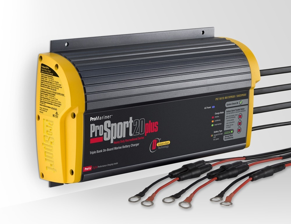 ProSport 20 Plus Gen 3 20 Amp, 12/24/36 Volt, 3 Bank Battery Charger