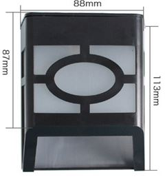 Decorative solar powered L.E.D. Outdoor Wall or step light