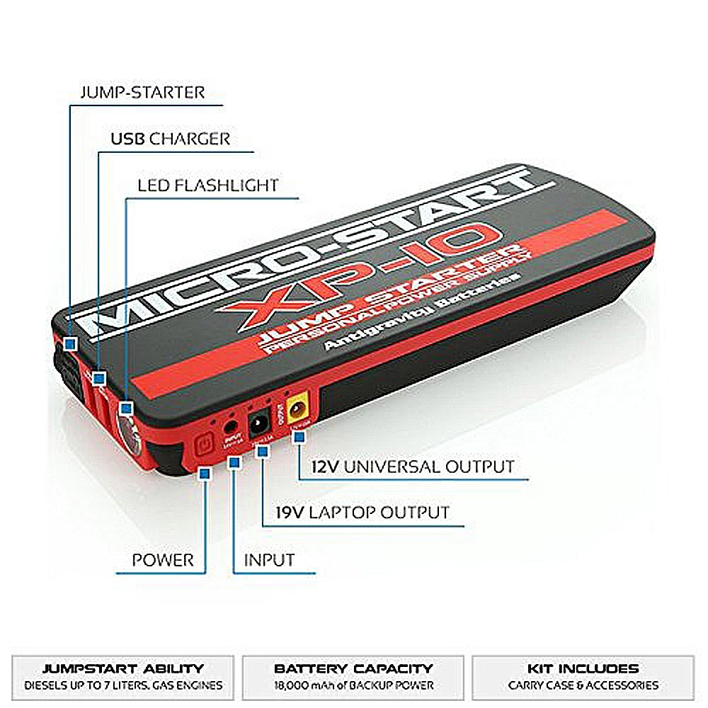 AG-XP-10 Multi-Function Power Supply and Jump Starter