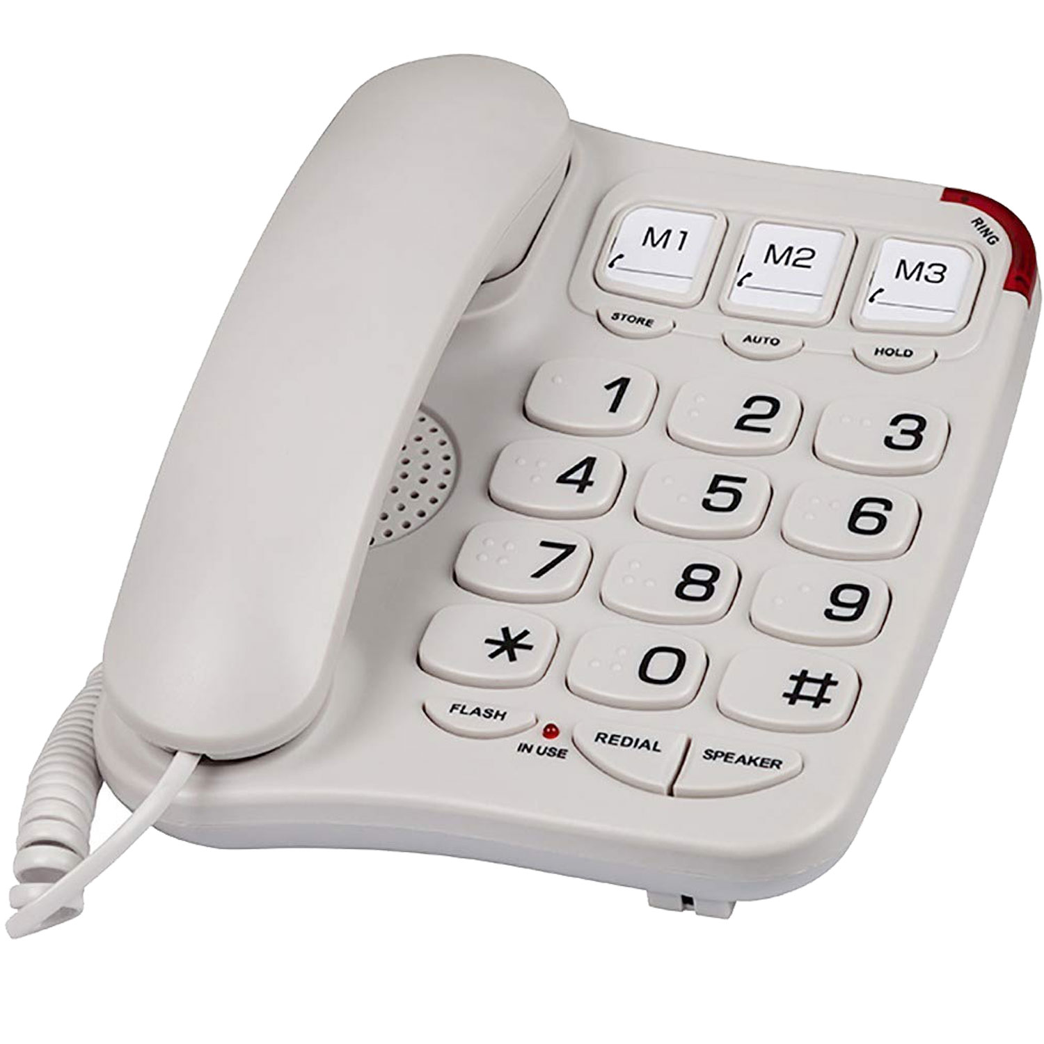 Braille Big Button phone for visually impaired and the elderly