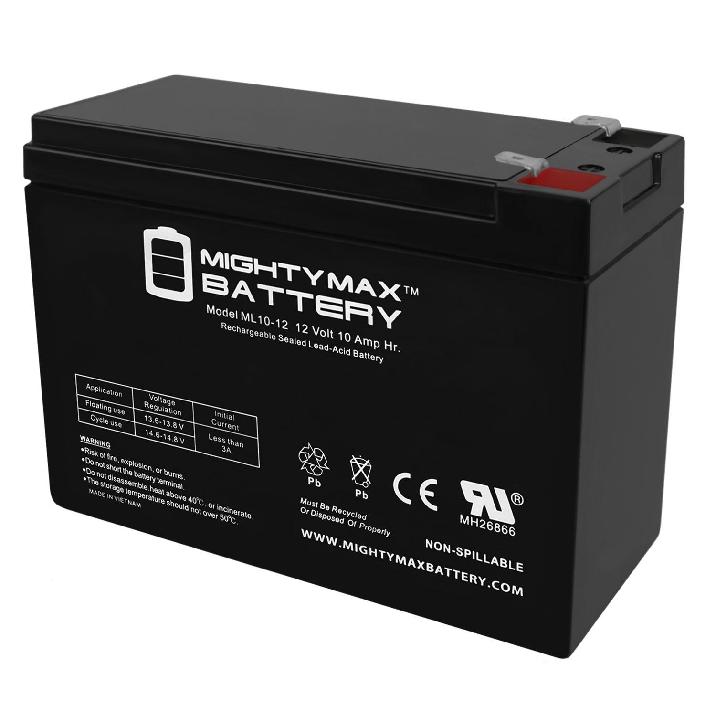 Mighty Max 3 Pack 12V 10AH Currie eZip Trailz Electric Bike Battery