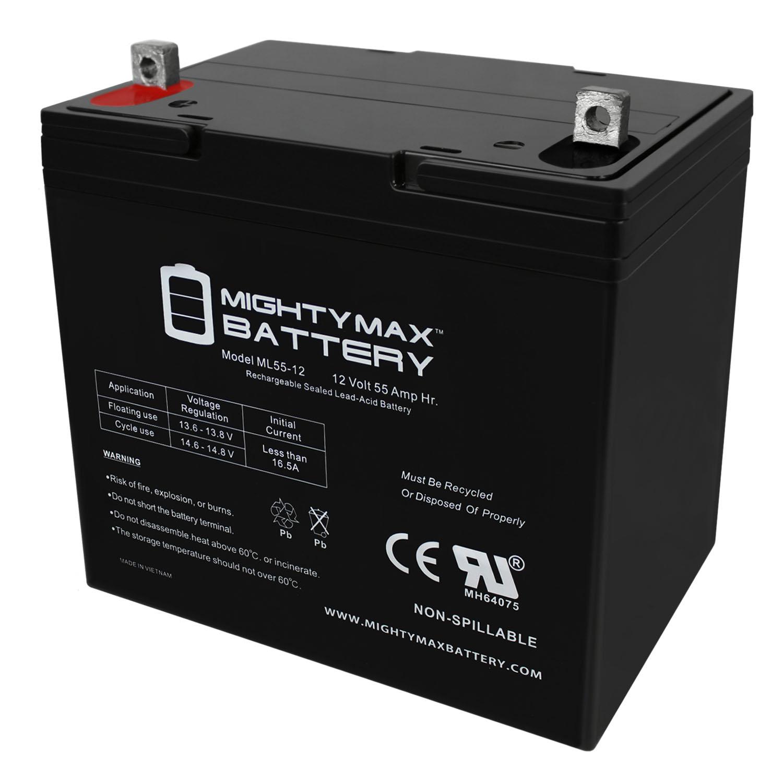 Mighty Max 12v 55ah Sla Battery For Minn Kota Endura