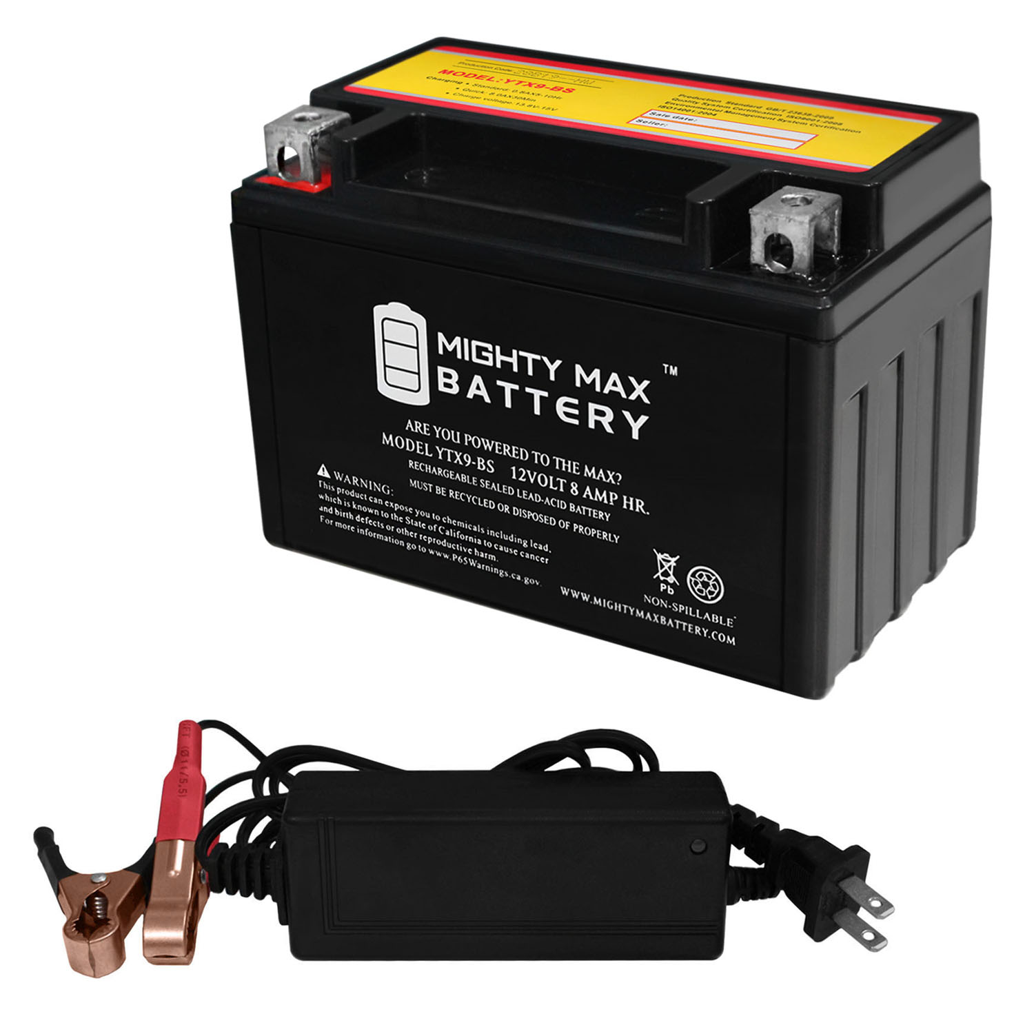 mighty max ytx9 bs 12v 8ah battery for atv suzuki ltz400. Black Bedroom Furniture Sets. Home Design Ideas