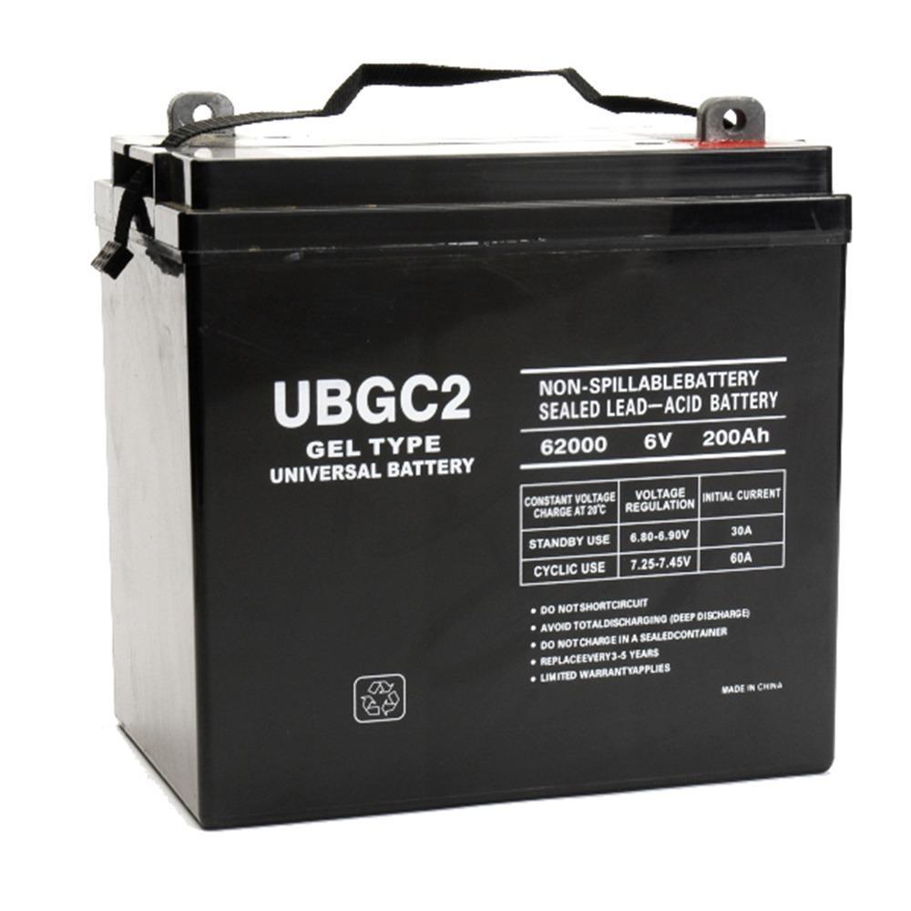 upg ubgc2 gel deep cycle 6v 200ah battery golf cart rv boat camper solar ebay. Black Bedroom Furniture Sets. Home Design Ideas