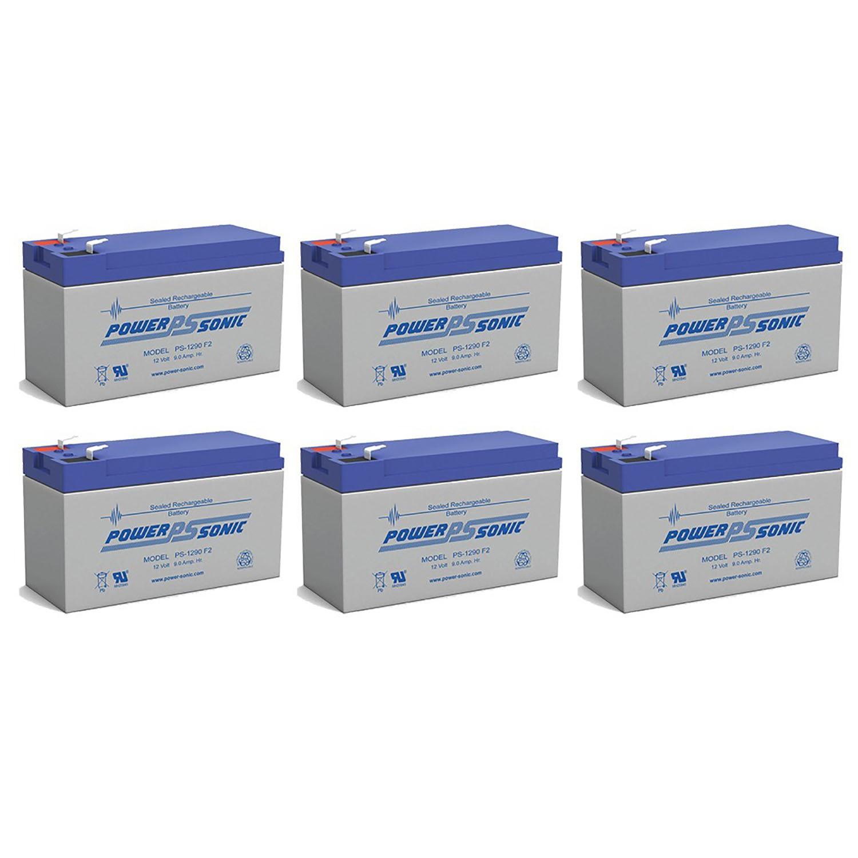 POWER-SONIC 12V 9AH RBC12 RBC26 RBC27 APC UPS SLA Replacement Battery - 6 Pack at Sears.com