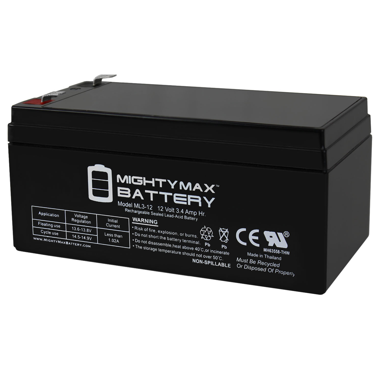 Mighty Max Battery ML3-12 Replacement part For Toro Lawn mower # 106-8397 BATTERY-12 VOLT at Sears.com