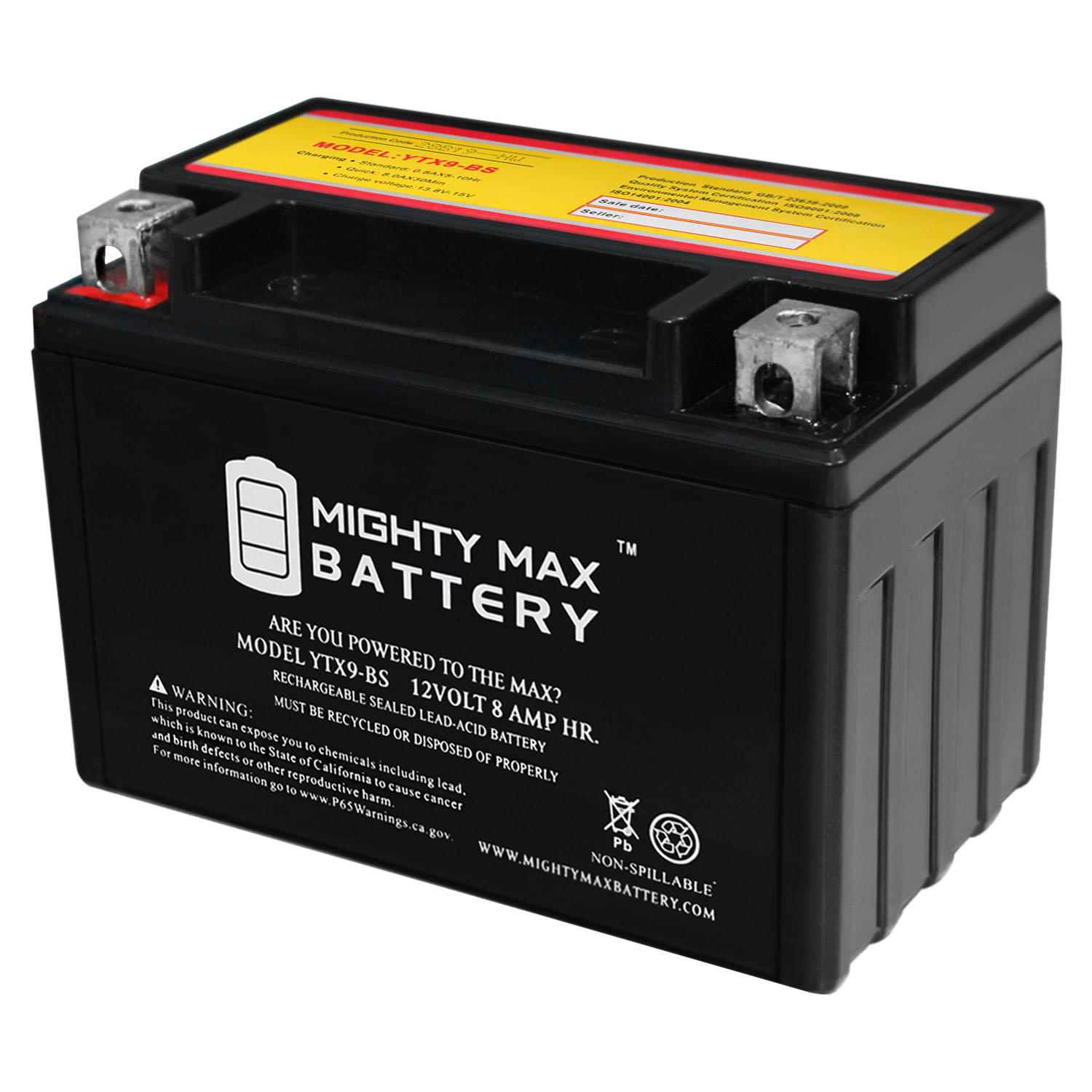 Mighty Max Battery YTX9-BS Replacement for GSXR750W Deep Cycle + 12V 1Amp Charger at Sears.com